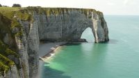 Cliffs Etretat Normandy France Erosion Limestone